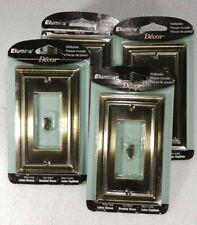 4 Elumina Brushed Brass Single  Rocker Wallplate Switch Plate 94RBBNB