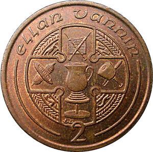 Isle of Man Ellan Vannin Hand Crafted 2p coin - Circulated