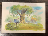 ORIGINAL BACKGROUND CEL ART Walt Disney's Winnie The Pooh TV Production Fiedler