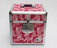 "Zilla LP100 12"" Vinyl Record LP Storage Box Flight Carry Case Army Pink Camo"
