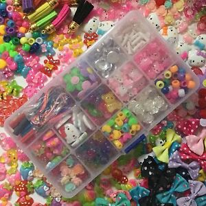 250pcs Cute Resin Flatback Cabochons / beads + DIY Craft Kit Supplies in box