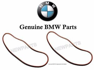 For BMW E46 3-Series Set of Left & Right Headlight Lens Seal Gaskets Genuine