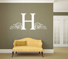 """Personalized Family Name Initial Wall Decal Monogram #27 Room Vynil 22"""" Tall"""