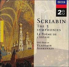 NEW Scriabin: 3 Symphonies & Le Poème de l'extase/ Ashkenazy (Audio CD)