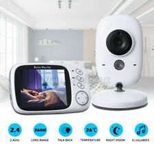 360° AU Video/Audio Baby Monitor w/ Infrared Night Vision/Temperature Sensor
