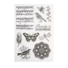Transparent Clear Silicone Stamps Unmounted Paper Craft Card Making Scrapbooking