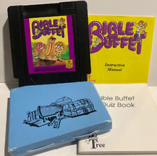 Bible Buffet for Nintendo NES Game Manual Quiz Book Sleeve Authentic Wisdom Tree