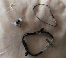 3 Pulseras De Cruz Vestido joyas