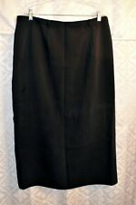 Black Long Straight Skirt by Sag Harbor Petite Size 16P EUC