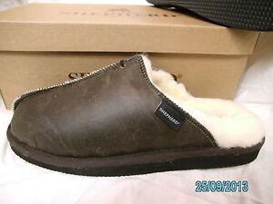 """Mens Genuine Sheepskin Hard Sole Hugo Mule Slippers, """"Shepherd"""" Made In Sweden"""