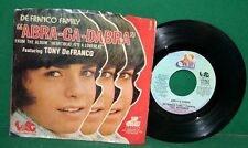 Vintage 45 RPM Record ABRA-CA-DABRA by the De Franco Family with Record Sleeve