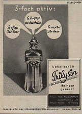 HAMBURG, Werbung 1936, Chemische Fabrik PROMONTA GmbH Trilysin-Haartonikum