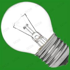 20x 40W CLEAR ROUND DIMMABLE GOLF LIGHT BULBS SCREW ES E27 EDISON SCREW LAMPS