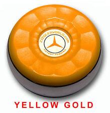 ZIEGLERWORLD TABLE SHUFFLEBOARD MEDIUM SIZE PUCKS WEIGHTS BLACK-YELLOW GOLD