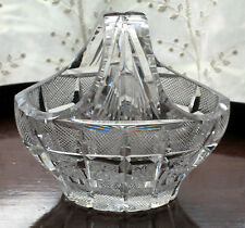 An attractive quality novelty cut glass dish modelled as a Basket