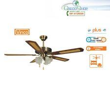 Agitatore/Ventilatore da soffitto 5 pale in legno noce scuro 4 luci Vinco 70900