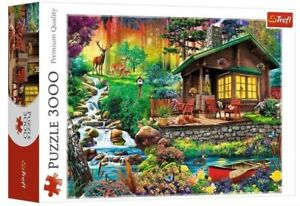 Puzzle 3000 pezzi Cottage in the Forest Trefl
