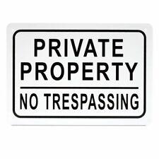 3pcs Private Property No Trespassing Aluminium Sign 10 X 7 For Indoor Outdoor