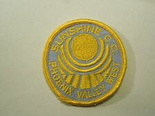 Vintage Sunshine C.C. Phoenix Valley West Iron On Patch
