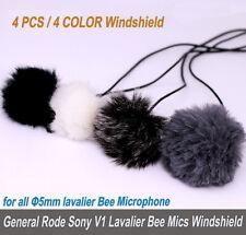 4x Windscreen for Audio-Tech SONY RODE Lavalier Microphone Φ5.0mm Lapel Clip Mic