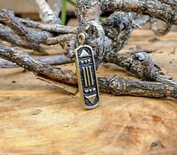 Brass Necklace - Atlantes Amulet Handmade Artwork