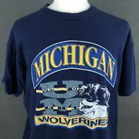 Michigan Wolverines Vintage 90s T-Shirt XL Single Stitch USA Football FOTL