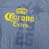 Corona Extra Men's XL T-Shirt Blue 1925 Licensed Beer Merch Bar Brewing