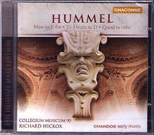 Hickox: Hummel Te Deum mass quod in orbe CD Susan Gritton Ann Murray Gilchrist