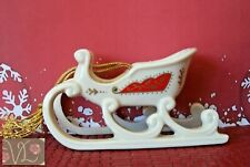 Collectible Lenox 1990 Sleigh Ornament from the Christmas Keepsake Collection