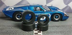 1/32 SLOT CAR TIRES 2pr set fits SCALEXTRIC Ford GT MkIV Front & Rears
