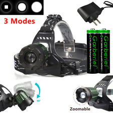 99000Lumens Ultra Bright Zoomable T6 LED Headlamp Head Light Torch 18650+Charger