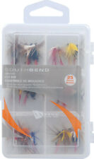 South Bend 25 pc Fly fishing kit box wet dry nymph caddis streamer flies Sbfly25