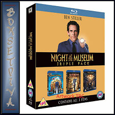 NIGHT AT THE MUSEUM TRILOGY - 3 MOVIE COLLECTION **BRAND NEW BLU-RAY BOXSET**