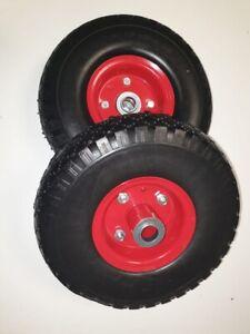 "2X10""Inch Puncture Proof Foam Pneumatic  Truck Trolley Sack  Wheel Barrow Tyres"