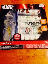 Star Wars Temporary Tattoo Kit With Stickers 122 Piece NEW FREE SHIP