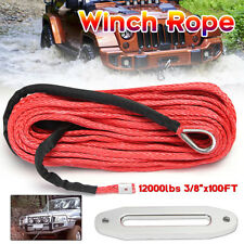 Raptor 4x4 Tyrex Kit Of 28m 12mm Synthetic Winch Rope Tow Towing Winching