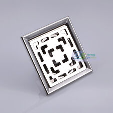 Stainless Steel Bathroom Shower Drain Floor Waste Drainer Cover Strainer 10x10cm