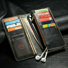 """Universal Luxury Leather Wallet Bag Card Case Cover for 4""""- 6.5""""Phone"""
