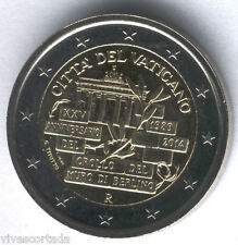 Vaticano 2014 Cartera oficial 2 Euros @ XXV Aniv. de la caida del Muro Berlin @