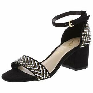 Callisto of California Womens Nessa Faux Suede Studded, Black Suede, Size 5.0