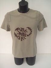t-shirt Roberto Cavalli,DISEGNO SCORPIONE,colore verde salvia,tg 50