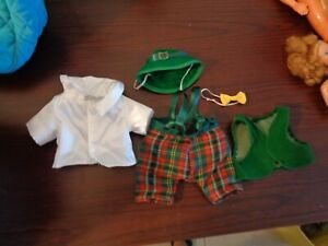 5 piece Vintage  Leprechaun Costume Outfit for doll or bear ADORABLE