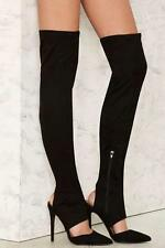 Nasty Gal Hot On My Heels Over-the-Knee Boot size 8.5 black new in box