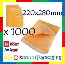 1000x BUBBLE PADDED ENVELOPE BAG MAILER 220 x 280mm Premium Quality Envelope Bag