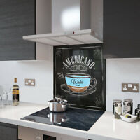 Perspex Acrylic Splashback 15cm x 15cm Sample Of Americano Coffee