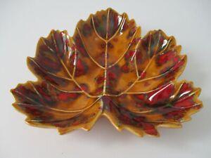 Ceramic Leaf Table Top Candy Trinket Dish Decoration USA Vintage