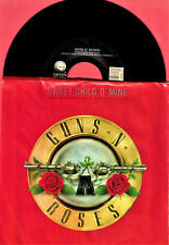GUNS ROSES SWEET CHILD O MINE HEAVY METAL ROCK PICTURE SLEEVE 45 RPM RECORD