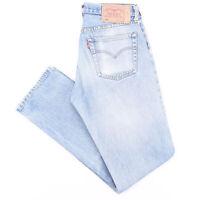 LEVI'S 501 Blue Denim Regular Straight Jeans Mens W31 L34