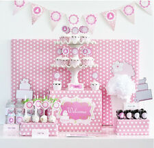 Pink Cake Mod Birthday Baby Girl Shower Party Decorations Kit