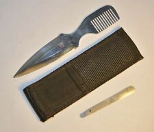 "RARE! AL MAR 7003 ""WILD HAIR"" FIXED BLADE BOOT KNIFE W/SHEATH & FILE SEKI-JAPAN"